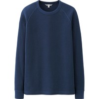 MEN WAFFLE CREW NECK LONG SLEEVE T-SHIRT | UNIQLO