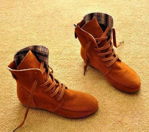 Women Suede Lace Up Winter Warm Boots from EudoraGift  353e4be56