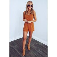 One Of These Days Romper: Pumpkin Spice