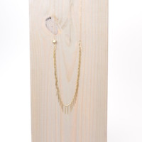 LOVE, POPPY GOLD SPIKE NECKLACE