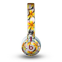 The Vibrant Yellow Flower Pattern Skin for the Beats by Dre Mixr Headphones
