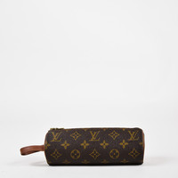 "Louis Vuitton Vintage Coated Canvas & Leather Monogram ""Golf Ball"" Pouch"