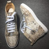 Cl Christian Louboutin Python Style #2258 Sneakers Fashion Shoes - Best Deal Online