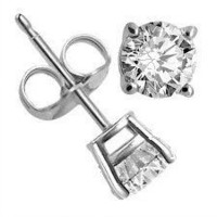 .925 Sterling Silver Round Shape Colorless Cubic Zirconia 1.5 Cttw. Stud Earrings