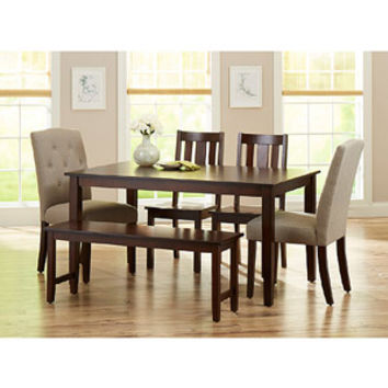 Walmart: Better Homes and Gardens 6-Piece Dining Set, Mocha/Beige