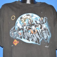 90s Easyriders Harley Davidson Outer Space t-shirt Extra Large