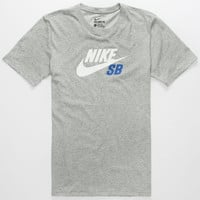 Nike Sb Dri-Fit Icon Logo Mens T-Shirt Grey  In Sizes