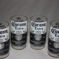 Drinking Glasses - Recycled Beer Bottle - Corona - 8 oz.