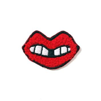 Gaptooth Grin Mini Chenille Patch