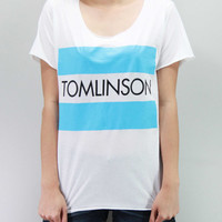 Louis Tomlinson Shirt One Direction 1D Shirt TShirt T-Shirt T Shirt Tee Unisex - silk screen handmade – Size S M L
