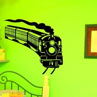 Train Wall Decal Vinyl Sticker Army Locomotive Wall Decals Home Decor Interior Design Art Mural Boys Room Kids Bedroom Dorm Z755