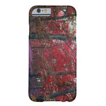 Unique Red Trees Barely There iPhone 6 Case
