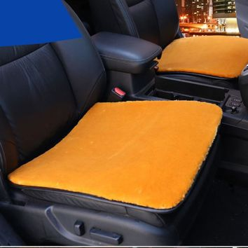 High density Front Car Seat Covers Soft Faux Fur Hot Cushion Styling Winter Warm Plush Car Pad Seat Covers