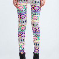 Scarlett Neon Aztec Bright Leggings