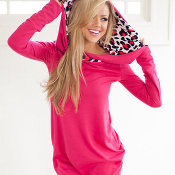 Can't Resist Hoodie Hot Pink
