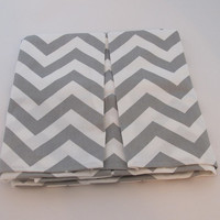 Gray/White Chevron Crib Skirt