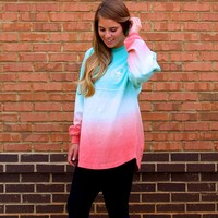 Ombre Jersey Pullover