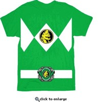 The Power Rangers Green Rangers Costume T-shirt - Power Rangers - Free Shipping on orders over $60 | TV Store Online