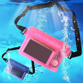 Waterproof Bag Swim Drift Diving Underwater Dry Shoulder Waterproof Waist Belt Bag Pocket Pouch for iphone 6 7 case cover/camera