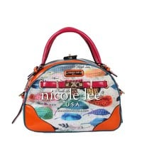 FEATHER PRINT BOWLER BAG - NEW ARRIVALS