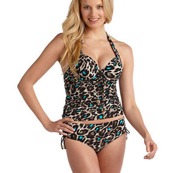Coco Reef Animal Print Tankini Swim Top