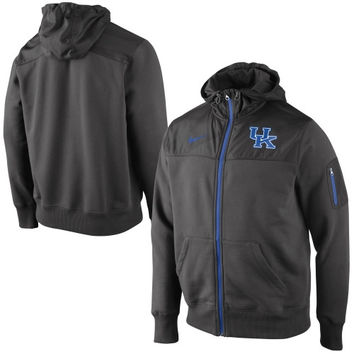 Nike Kentucky Wildcats Stealth Full Zip Hooded Jacket - Charcoal