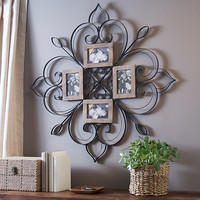 Metal Scrolled Floral Collage Frame