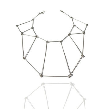 Statement geometric necklace, Prospect necklace, contemporary jewelry, minimal necklace, minimal architectural gift for trendy women