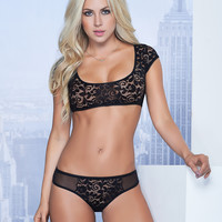 Keyhole Bra And Panty Set