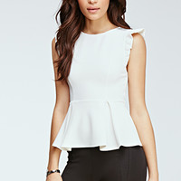Box-Pleated Peplum Top