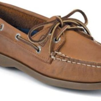Sperry Top-Sider Authentic Original 2-Eye Boat Shoe SaharaLeather, Size 5W  Women's Shoes