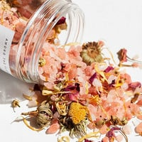 Among The Flowers Premium Pink Salt Bath Soak | Urban Outfitters
