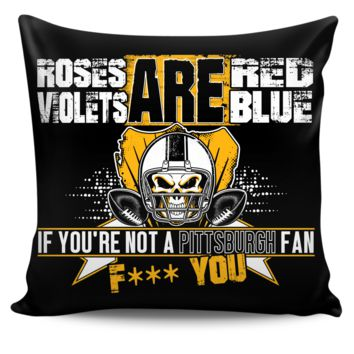 Roses are Red Pittsburgh Pillow Cover