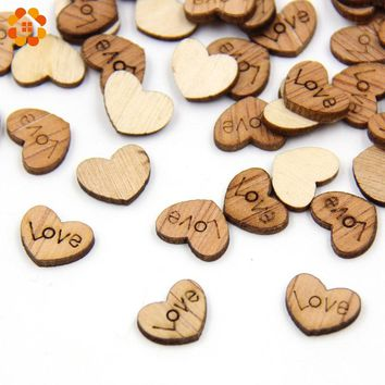 100PCS/Lot  Love Heart Shape Wedding Confetti