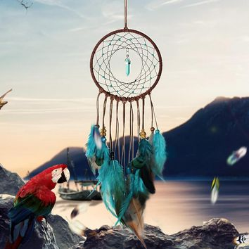 1Pc India Retro Life Tree Colorful Feather Dream Catcher Wind Chimes Hanging Dreamcatcher Christmas Party Home Decoration
