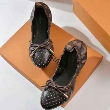 LV Louis Vuitton Casual Flats Fashion Women Dancing Shoes
