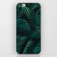 Palm leaves iPhone Skin by printapix