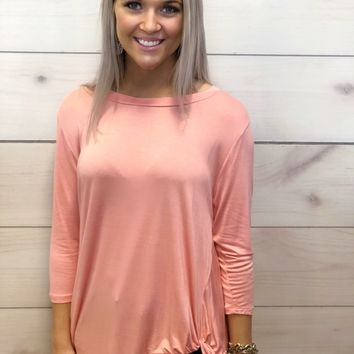 Why Knot Coral Top - Simply Southern