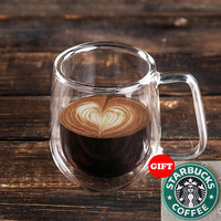 250ml Handmade Healthy Coffee Cups and Mugs Double Wall Glass Coffee Cups Heat Resistant Glass Cups Thermal Insulated Creative