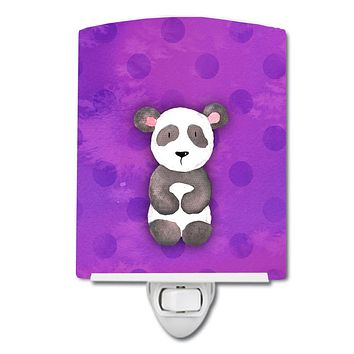 Polkadot Panda Bear Watercolor Ceramic Night Light BB7375CNL