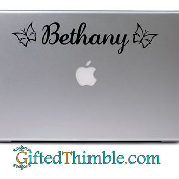 Personalized Name Decal / Personalized Laptop Decal / Personalized Door Decal