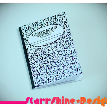 BJD Doll Props - 1/4 MSD Composition Notebook - Your Choice of Color