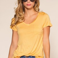 Kaylee Basic Top - Honey