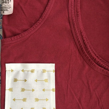 Arrow Pocket Tank, Tee, V-Neck, or Long Sleeve