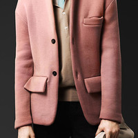 Cashmere Knit Tailored Jacket