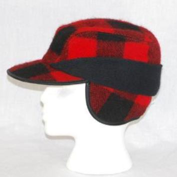 Wooly Winter Hunting Cap Hat Red and Black by thedapperapple