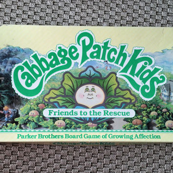 "Rare Vintage 1984 Cabbage Patch Kids ""Friends to the Rescue""Board Game / Parker Brothers Board Game of Growing Affection / Retro Board Game"