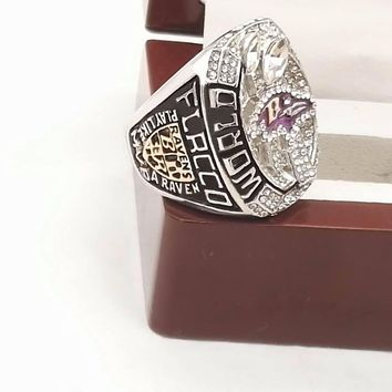 The Best Quality  2012 Super Bowl Baltimore Ravens  championship rings with wooden boxes