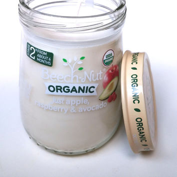 Baby Food Jar Candle with Lid - Soy Candle - 4.25 oz - CHOICE OF SCENT