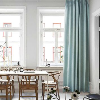 Blackout Drapes with Light Blue